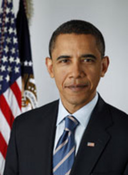 Portrait of President Barack Obama